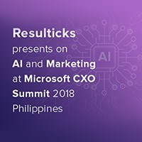 Resulticks presents on AI and marketing at Microsoft CXO Summit 2018 Philippines
