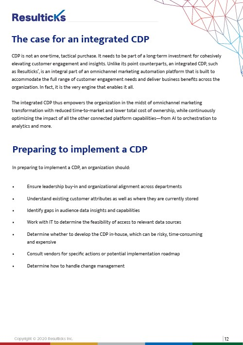 The case for an integrated CDP