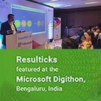 Resulticks featured at the Microsoft Digithon, Bengaluru
