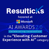 Resulticks wins Elevating Customer Experience with AI award